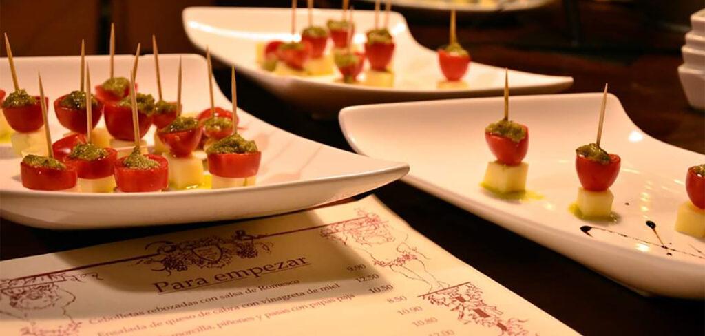 Entrantes de bienvenida de Restaurante El Zaguán